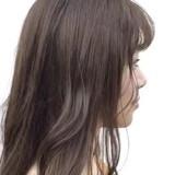 セミロング パーマ 大人ハイライト イルミナカラー ヘアスタイルや髪型の写真・画像