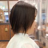 大人ショート ショートボブ ナチュラル ミニボブヘアスタイルや髪型の写真・画像