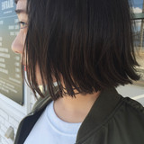 女の子  ボブ モード ヘアスタイルや髪型の写真・画像   平井 潮里/ENTRAIDE / ENTRAIDE  hair design studio
