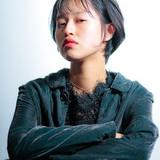 簡単スタイリング 束感バング モテ髪 モード ヘアスタイルや髪型の写真・画像
