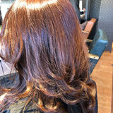 フェミニン ミディアム ヘアスタイルや髪型の写真・画像