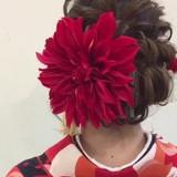 ロング 愛され 成人式 フェミニン ヘアスタイルや髪型の写真・画像