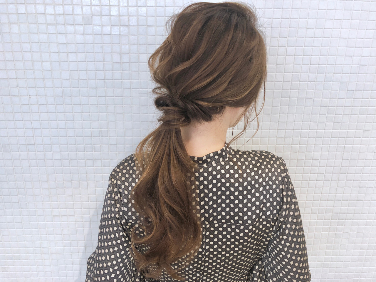 くるりんぱ ヘアアレンジ ナチュラル ロングヘアスタイルや髪型の写真・画像