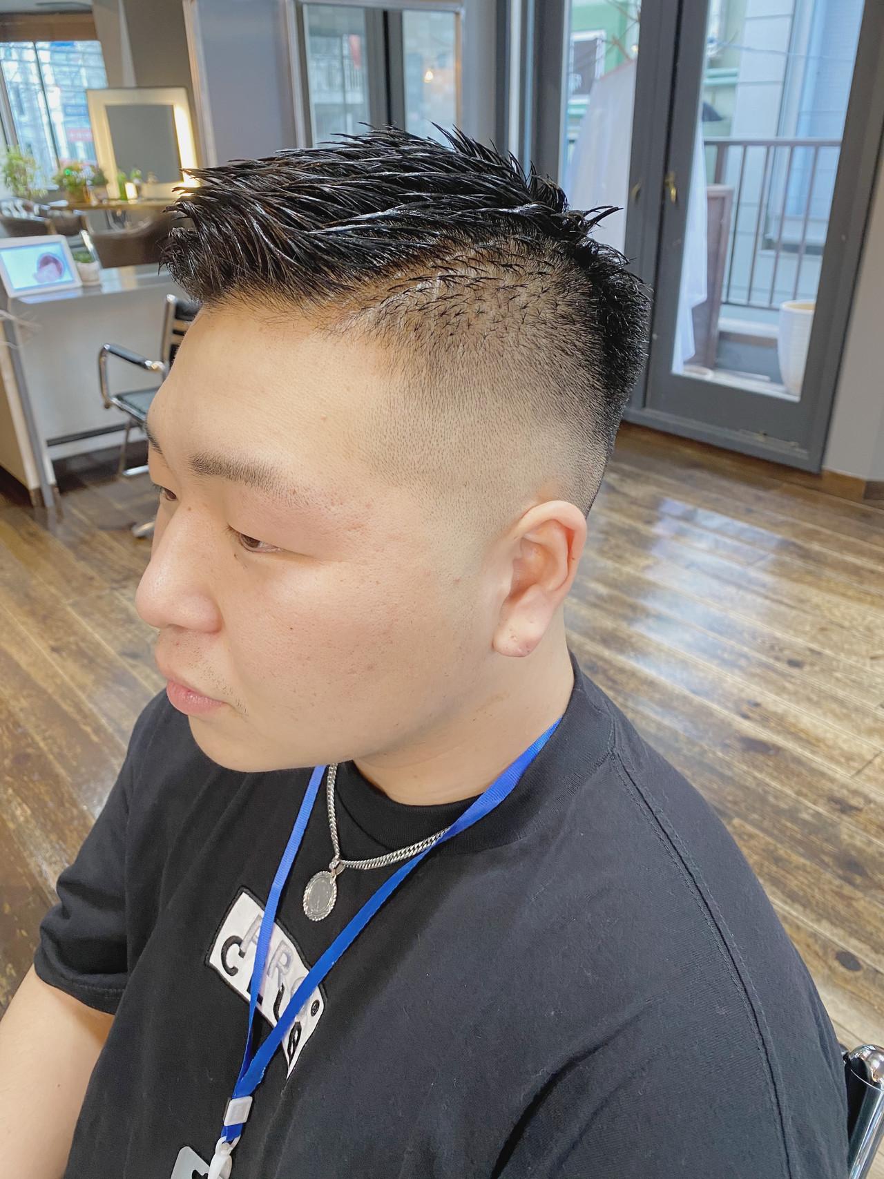 ショート 刈り上げ メンズヘア フェードカット ヘアスタイルや髪型の写真・画像 | 生形洸太 / hair&make egerie