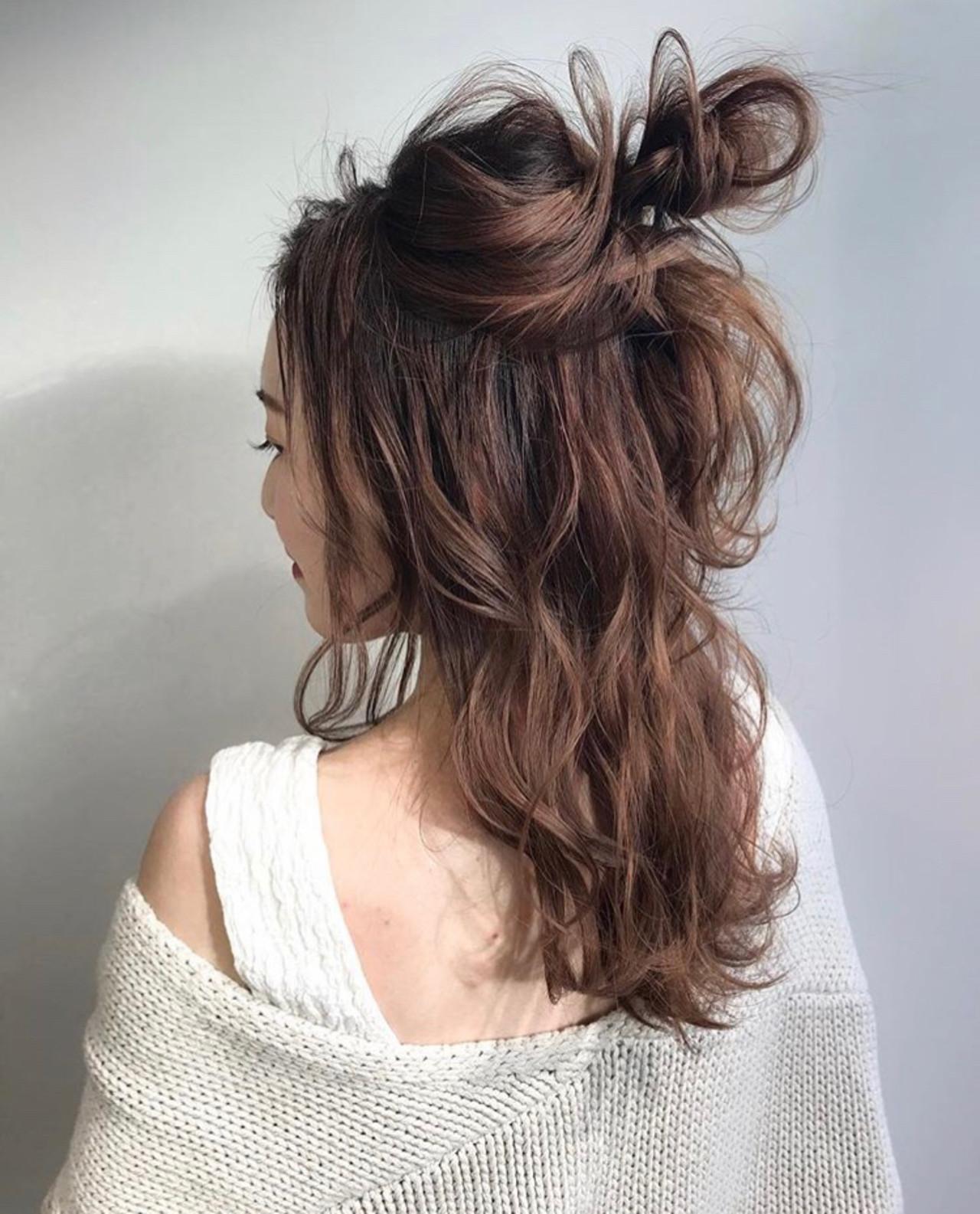 成人式 セミロング 結婚式 簡単ヘアアレンジ ヘアスタイルや髪型の写真・画像   三木 奨太 / hair set salon  IRIS
