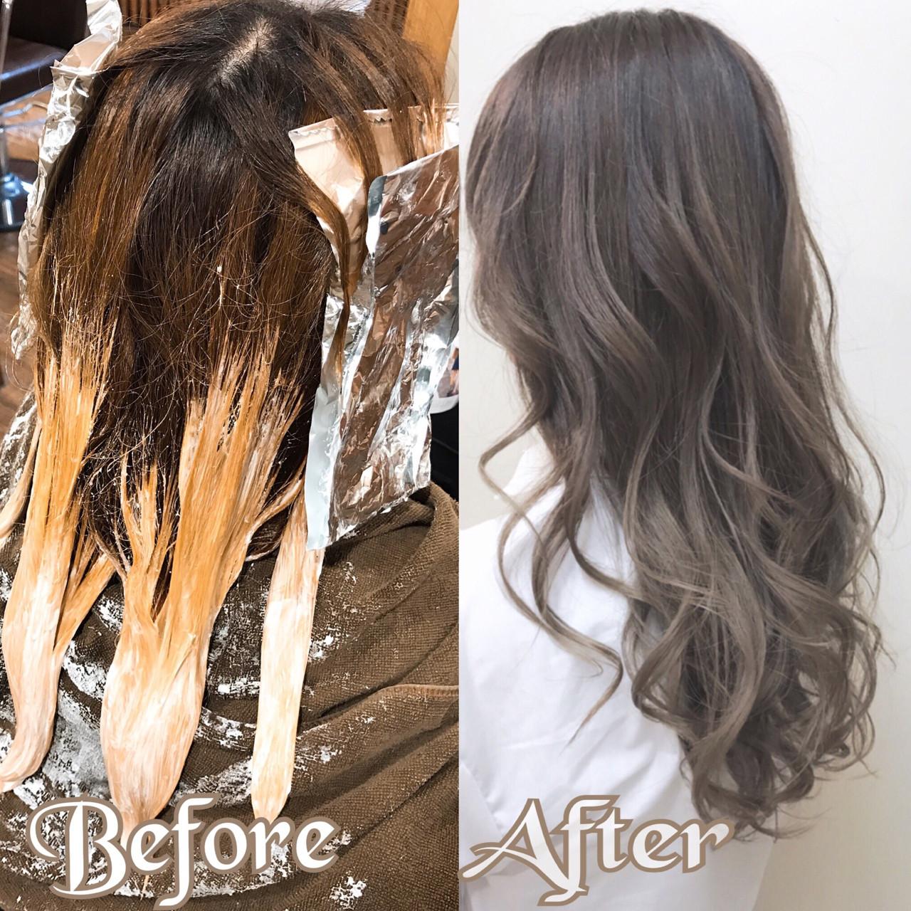 外国人風カラー セミロング ハイライト バレイヤージュ ヘアスタイルや髪型の写真・画像 | デザインカラー講師 REOMA / BLITZ R-EVOLUT