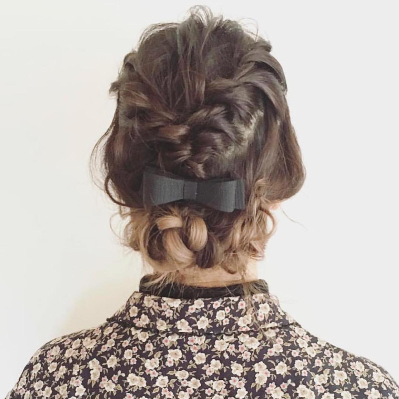 パーマ 簡単ヘアアレンジ ミディアム フェミニン ヘアスタイルや髪型の写真・画像   神谷茜 /&STORIES表参道✂︎ / &STORIES 表参道