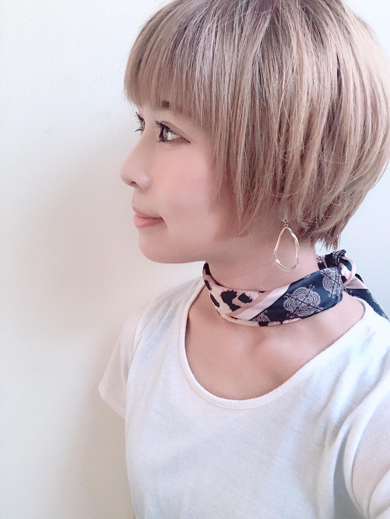 ショートヘア マッシュショート ナチュラル 小顔ショート ヘアスタイルや髪型の写真・画像 | 北川友理 / unsung