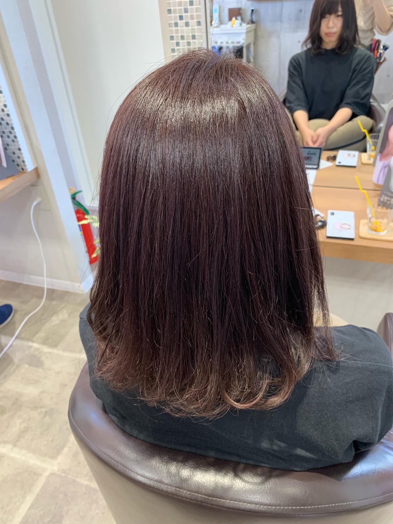 ワンカール 可愛い 艶髪 フェミニン ヘアスタイルや髪型の写真・画像 | ほしの まみ / LUCIDO STYLE Orga