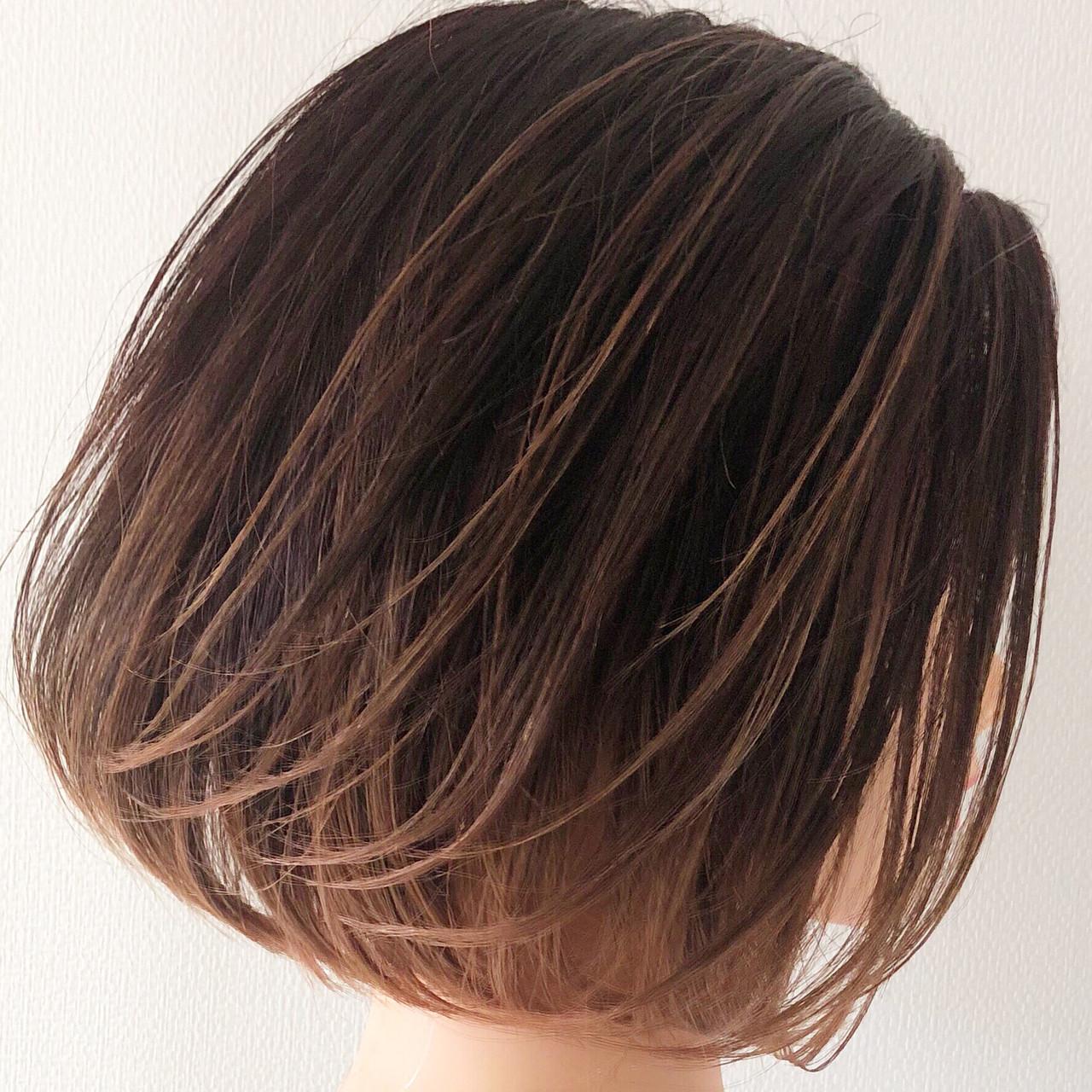 ナチュラルグラデーション ボブ デート ナチュラル ヘアスタイルや髪型の写真・画像 | 髙木達智 / VOGA