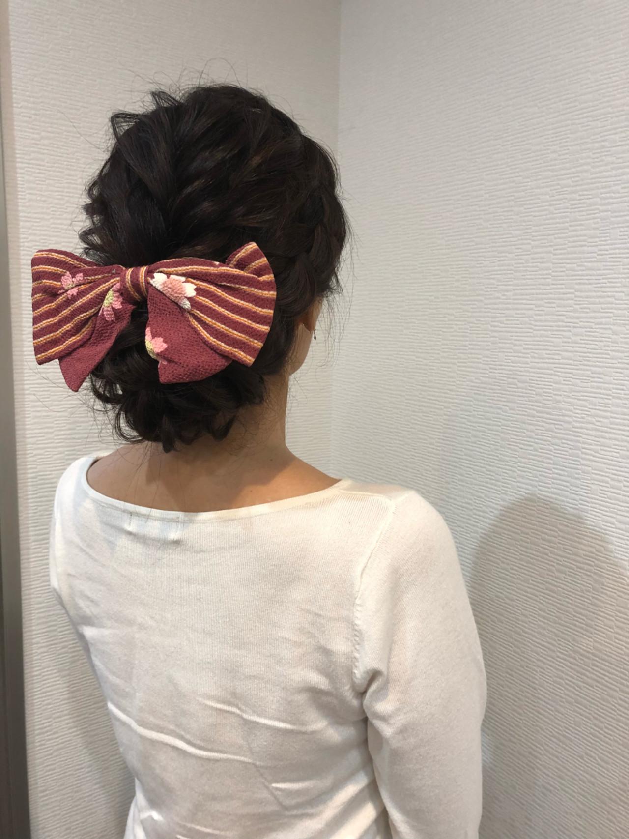 和装 アップスタイル フェミニン ヘアアレンジ ヘアスタイルや髪型の写真・画像 | mai / HAIR SALON STELLA