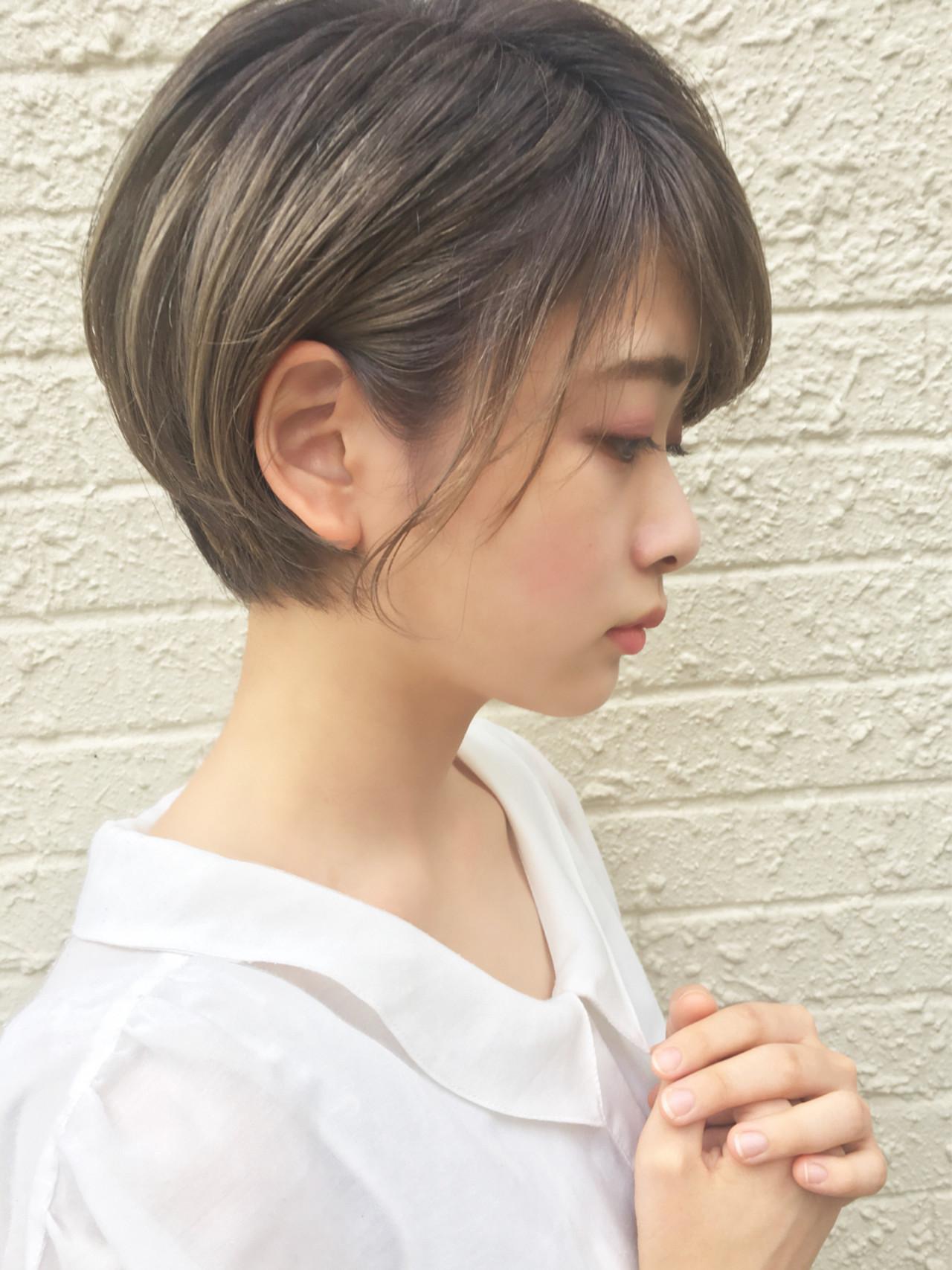 ナチュラル 色気 ショート 秋ヘアスタイルや髪型の写真・画像