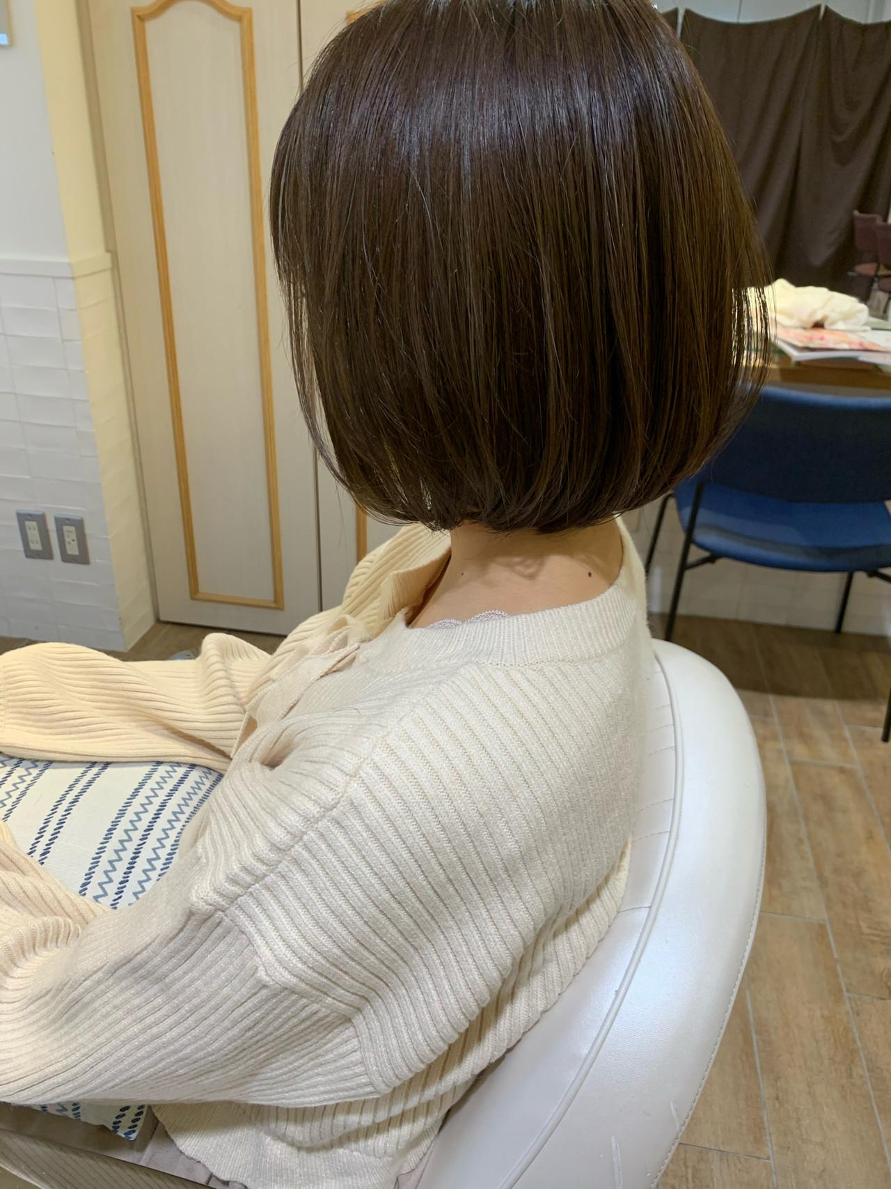 切りっぱなしボブ ナチュラル ボブ ショートボブ ヘアスタイルや髪型の写真・画像 | ヤマキタ トシキ Neolive / Neolive CiroL.