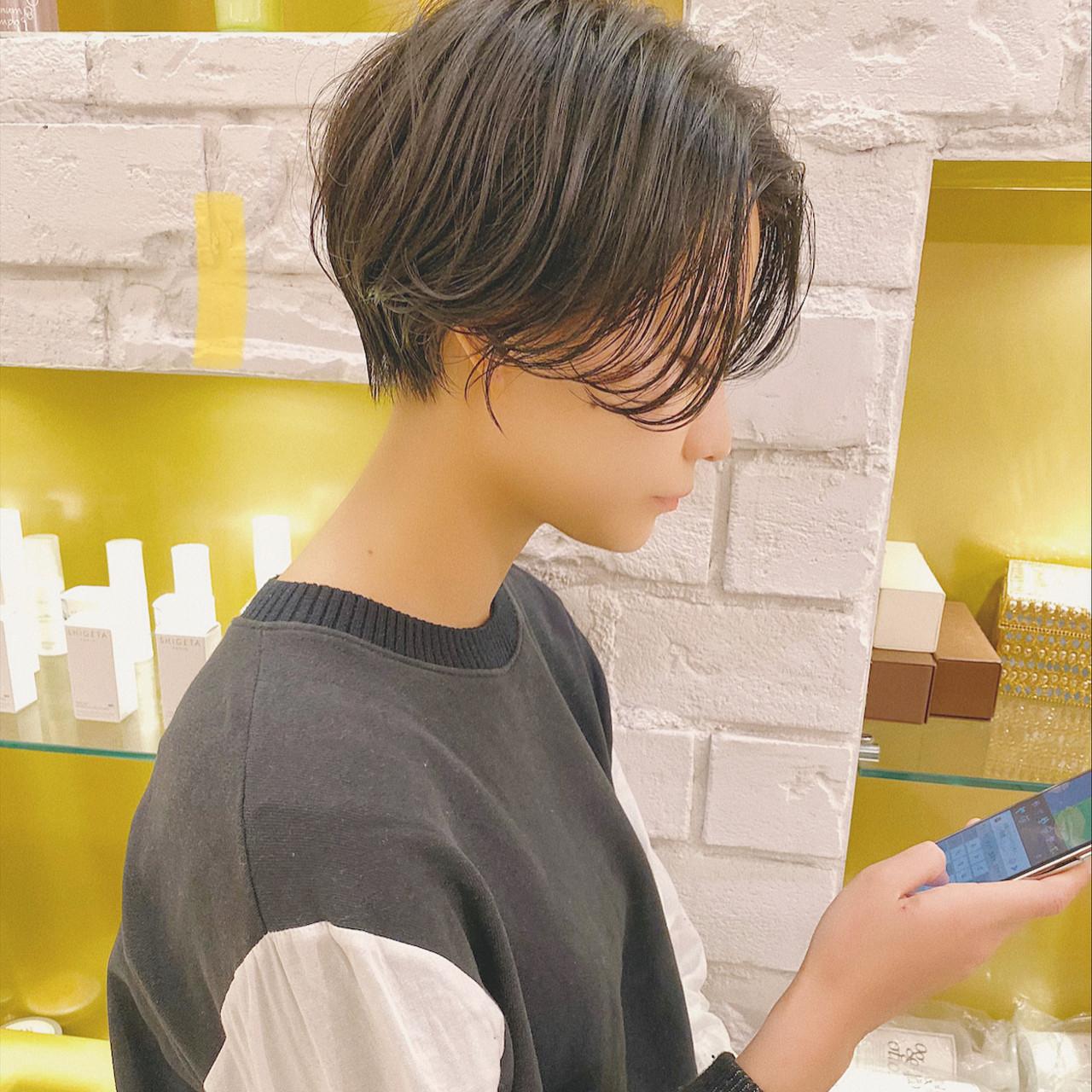 ショートボブ ショート ベリーショート 切りっぱなしボブ ヘアスタイルや髪型の写真・画像 | 河村 博之 名古屋 栄 リュドール栄 / リュドール栄