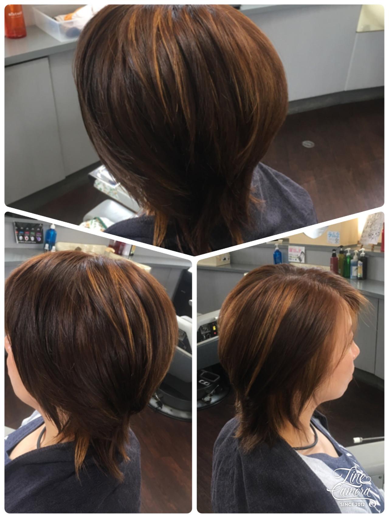 セミロング エレガント ヘアスタイルや髪型の写真・画像   本部博美 / ロミコ