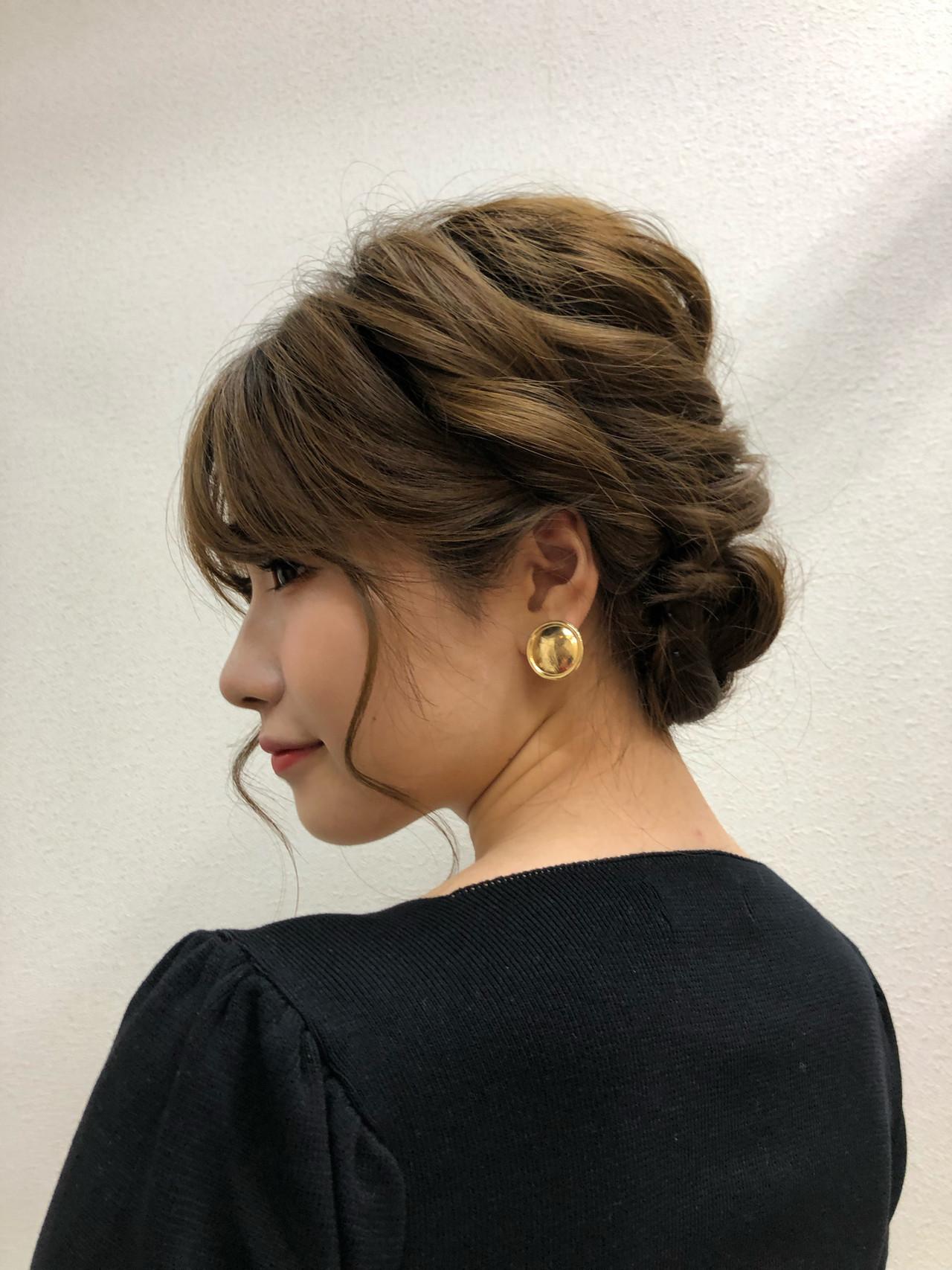 フェミニン 簡単ヘアアレンジ デート 編み込みヘア ヘアスタイルや髪型の写真・画像 | 佐藤タカヒロ / Gritter