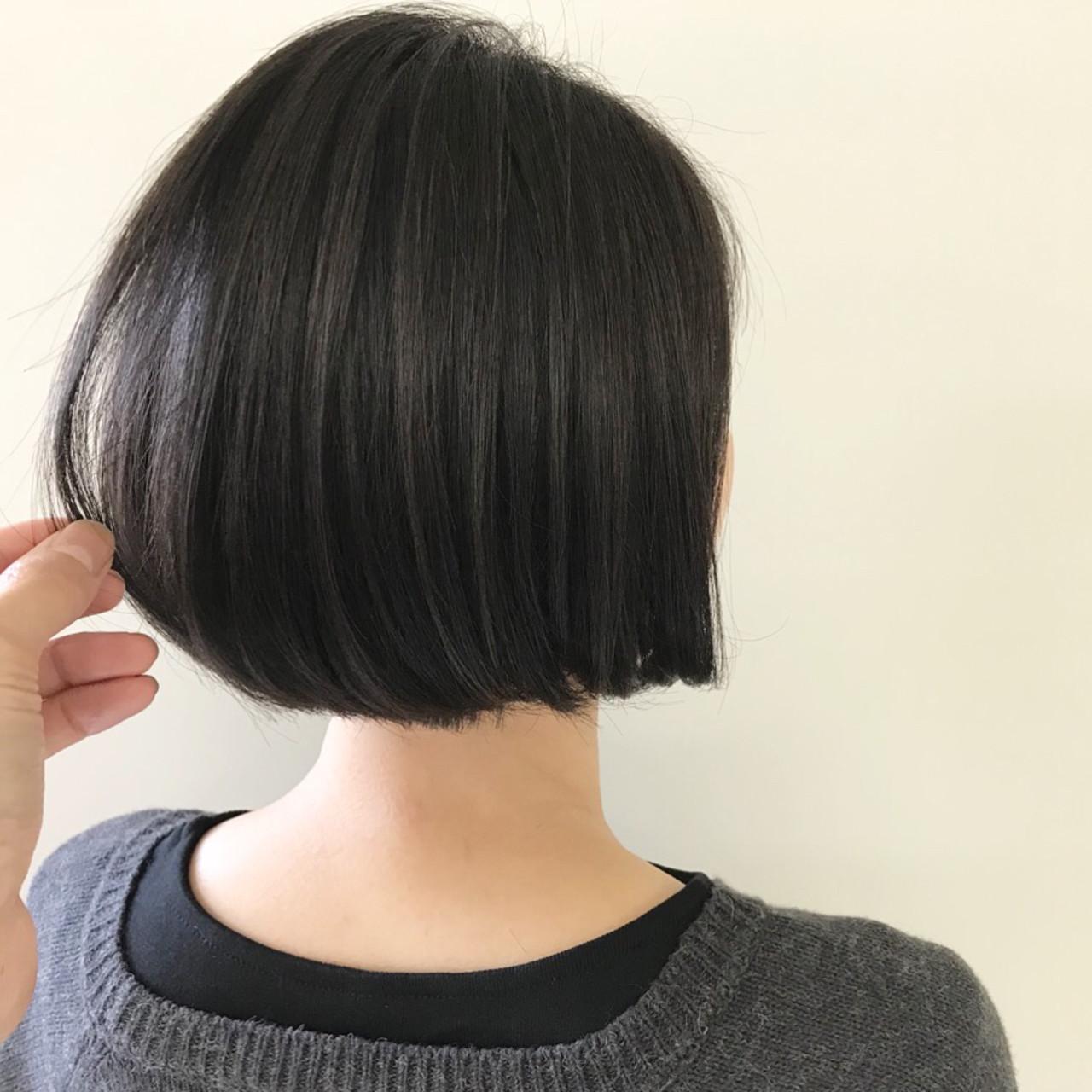 ワンカール ナチュラル 大人女子 ボブヘアスタイルや髪型の写真・画像