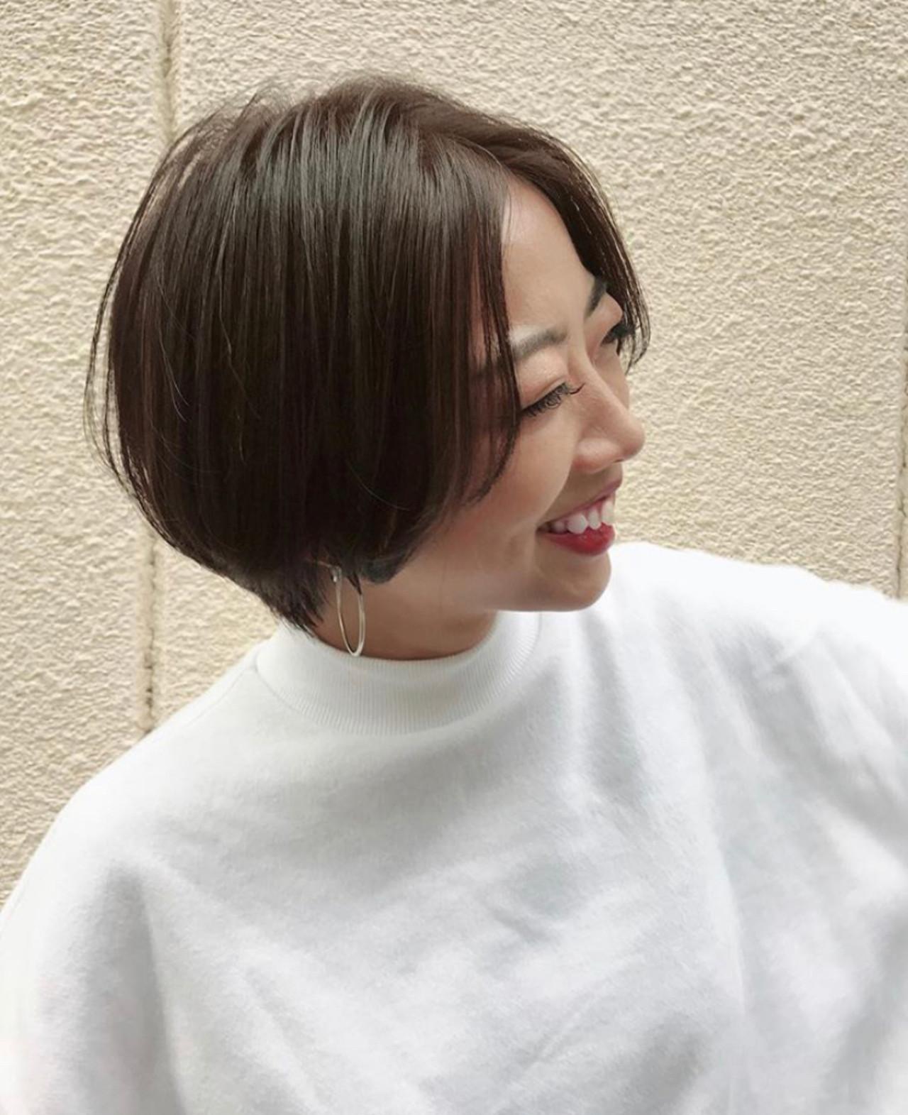 ベリーショート ショートボブ マッシュショート ナチュラルヘアスタイルや髪型の写真・画像
