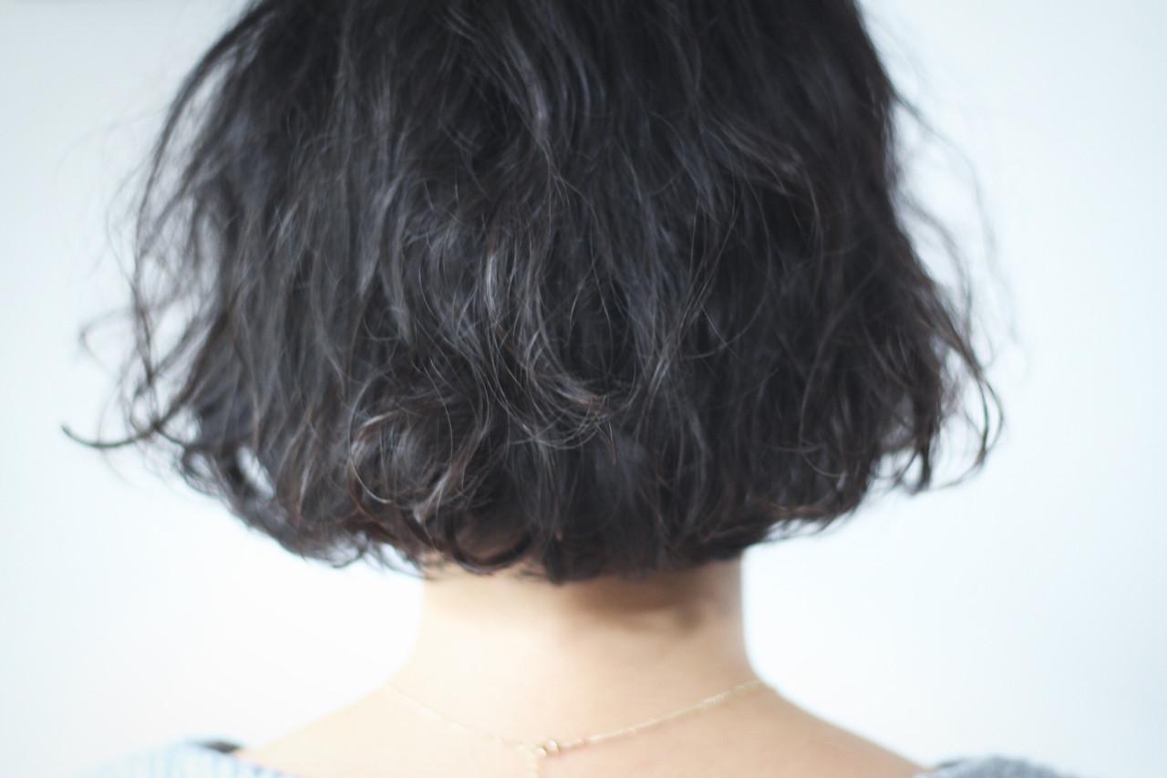 ボブ ワンカールパーマ パーマ ナチュラル ヘアスタイルや髪型の写真・画像 | creap / creap