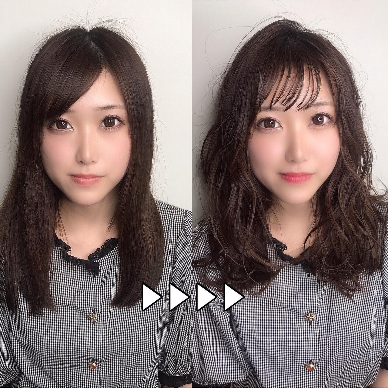 大人可愛い デート 透明感カラー ナチュラルヘアスタイルや髪型の写真・画像