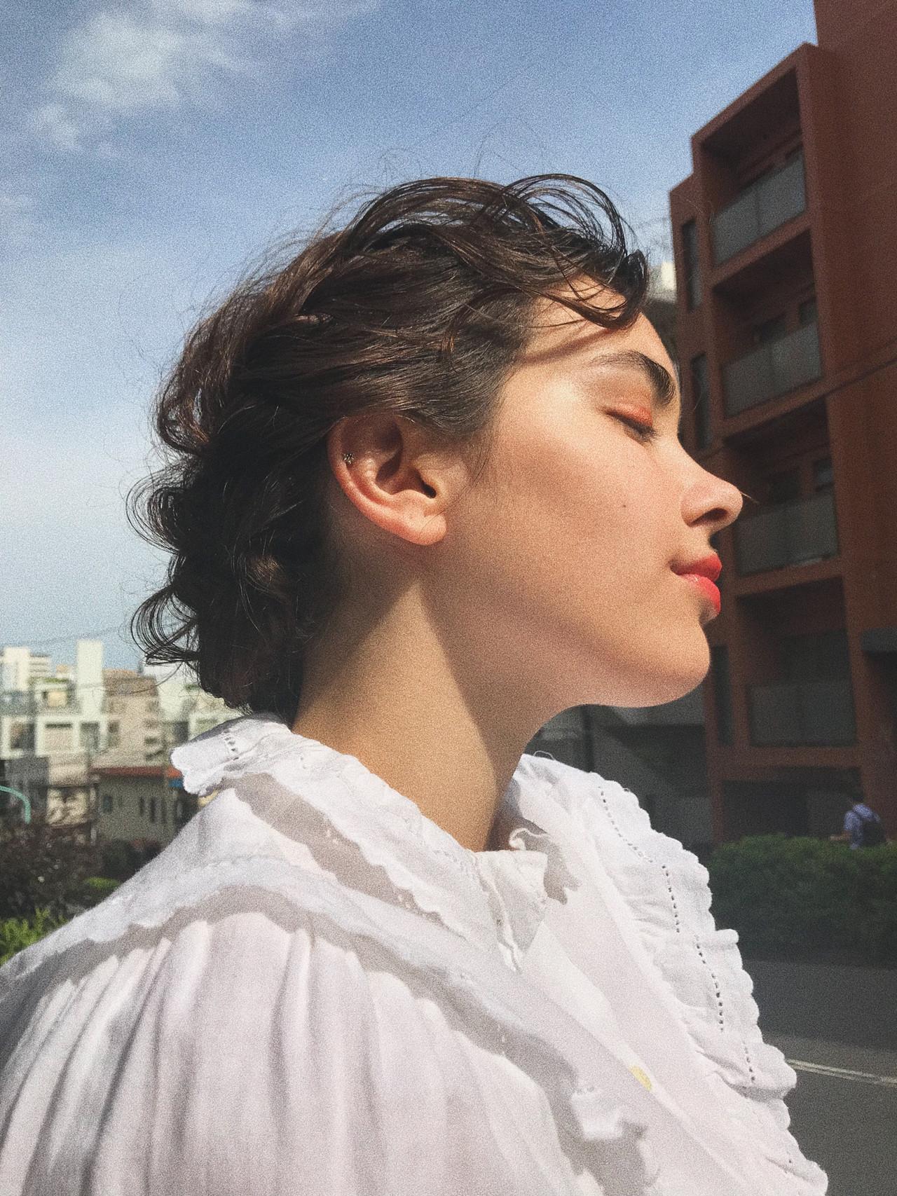 ヘアアレンジ モード 結婚式 簡単ヘアアレンジ ヘアスタイルや髪型の写真・画像 | 小西敬二郎 / Heartim