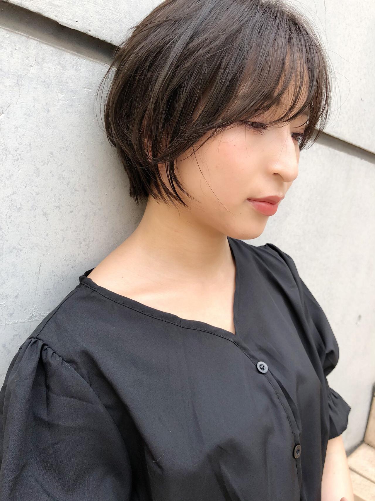 コンパクトショート ショートヘア ナチュラル ショートボブ ヘアスタイルや髪型の写真・画像