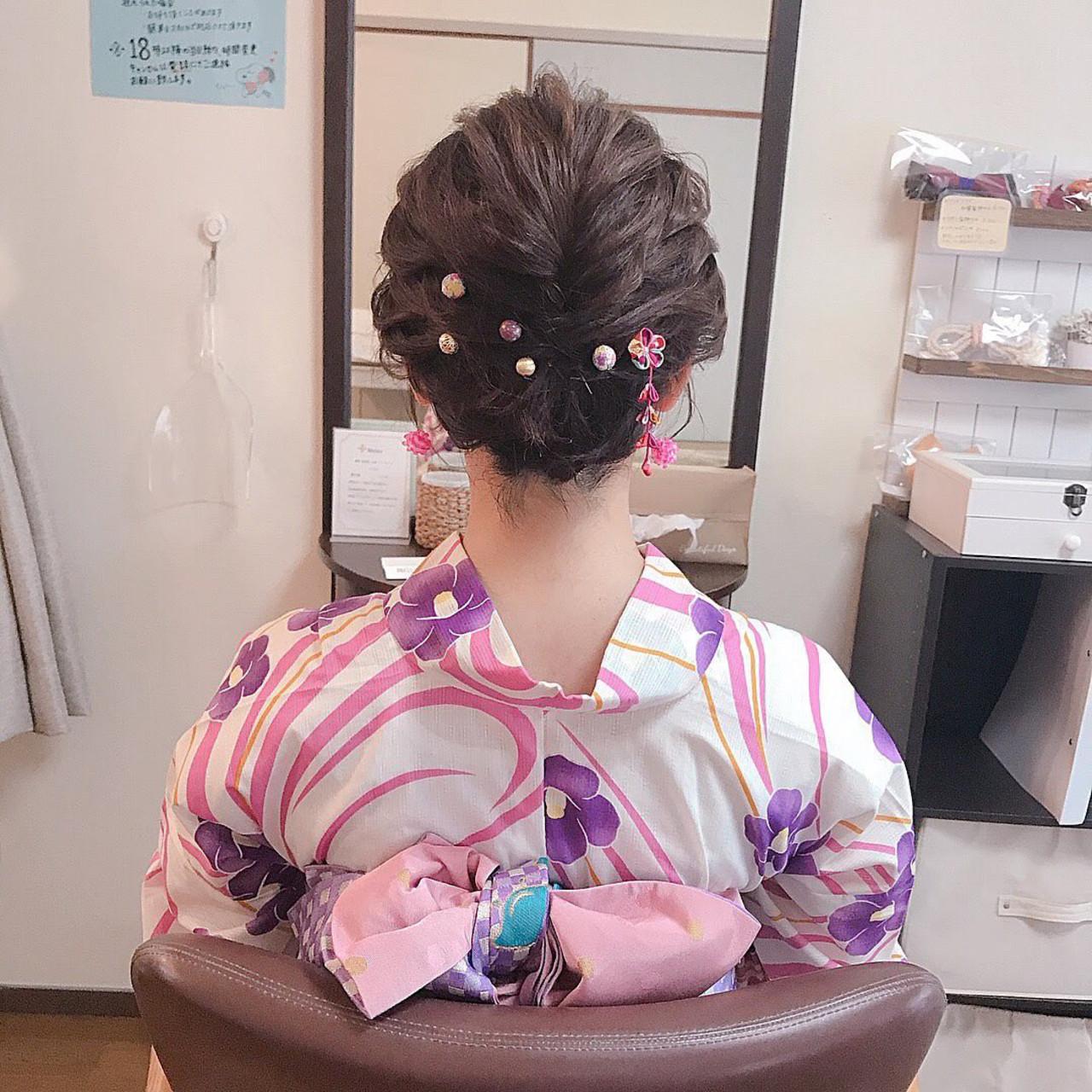 デート ボブ 結婚式 フェミニン ヘアスタイルや髪型の写真・画像 | Moriyama Mami / 福岡天神ヘアセット・着付け専門店【Three-keys】