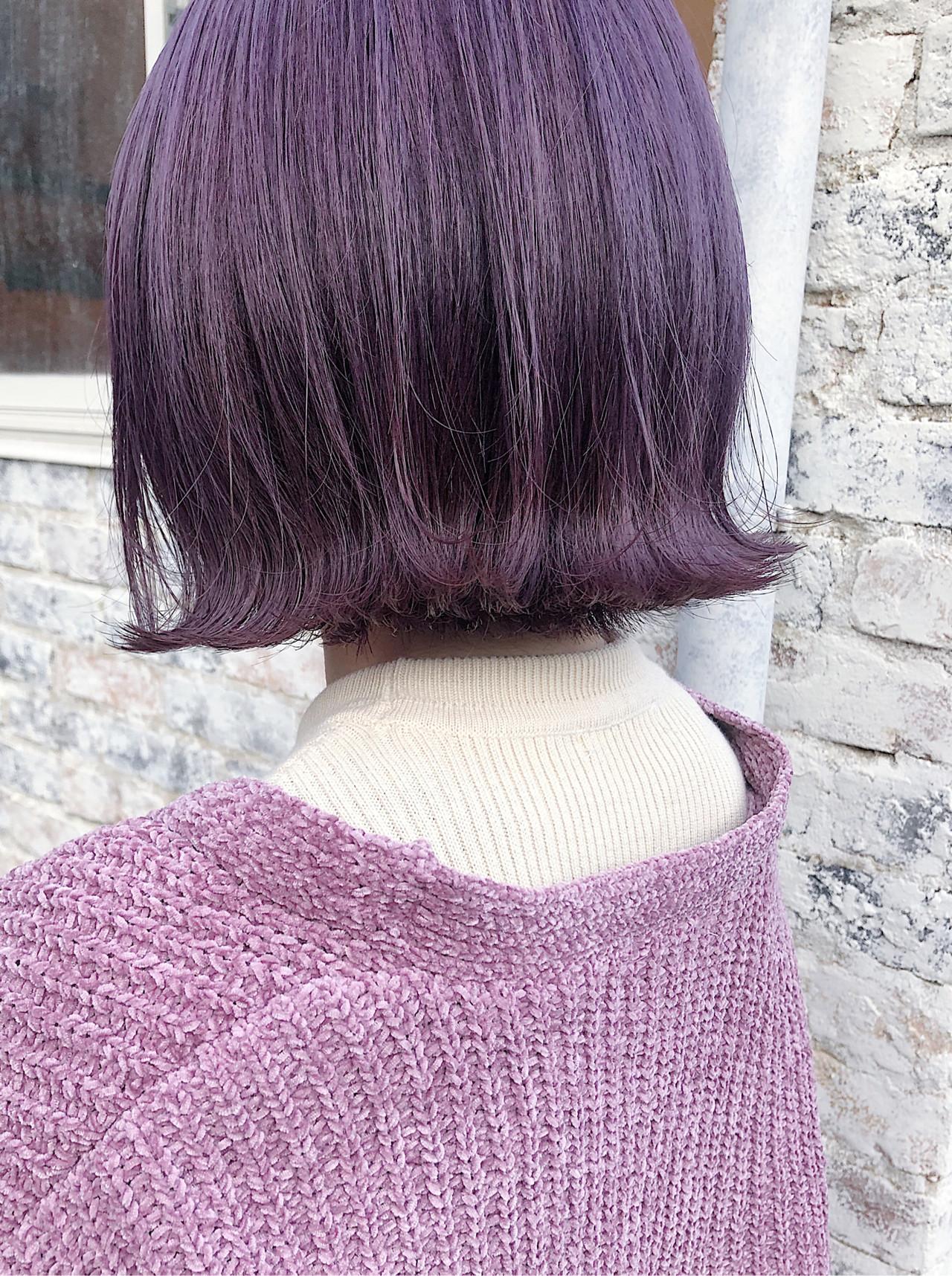 ボブ ストリート ダブルカラー 切りっぱなしボブ ヘアスタイルや髪型の写真・画像   ニシムラ カナ / La familia