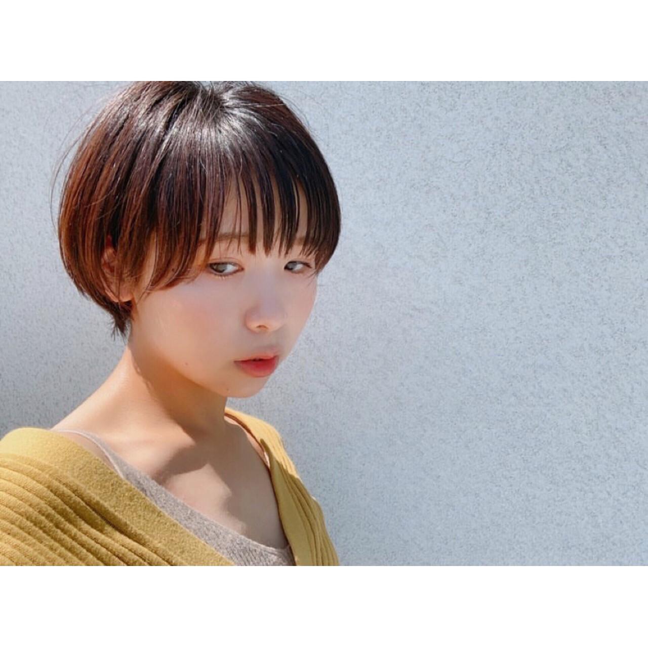 ナチュラル ショート ミルクティーブラウン ショートヘア ヘアスタイルや髪型の写真・画像 | 森下佳哲 / lufun hair design