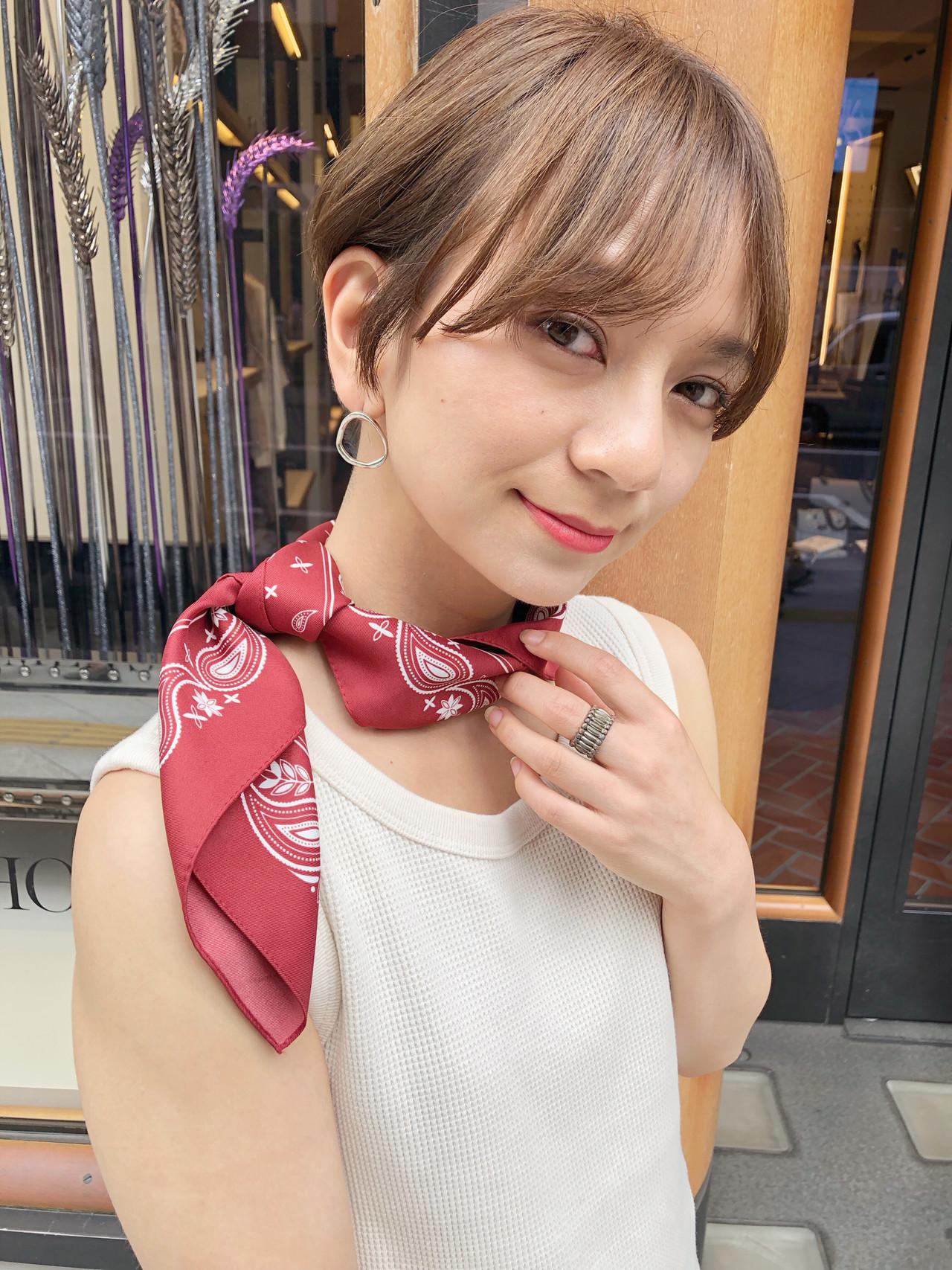 パーマ ショート ナチュラル ヘアアレンジ ヘアスタイルや髪型の写真・画像   ナガヤ アキラ joemi 新宿 / joemi by Un ami