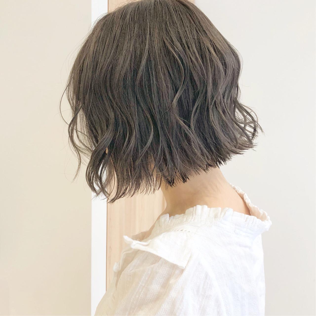 簡単ヘアアレンジ デート ナチュラル ボブヘアスタイルや髪型の写真・画像