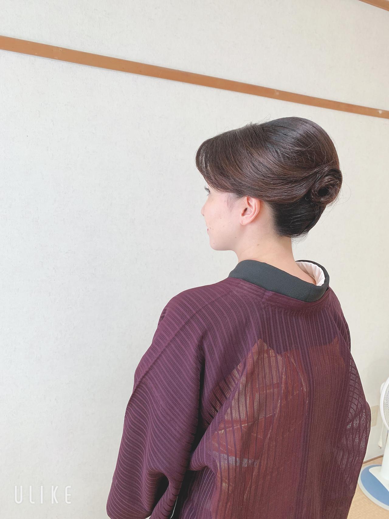 お呼ばれ 結婚式 エレガント 訪問着 ヘアスタイルや髪型の写真・画像 | Moriyama Mami / 福岡天神ヘアセット・着付け専門店【Three-keys】