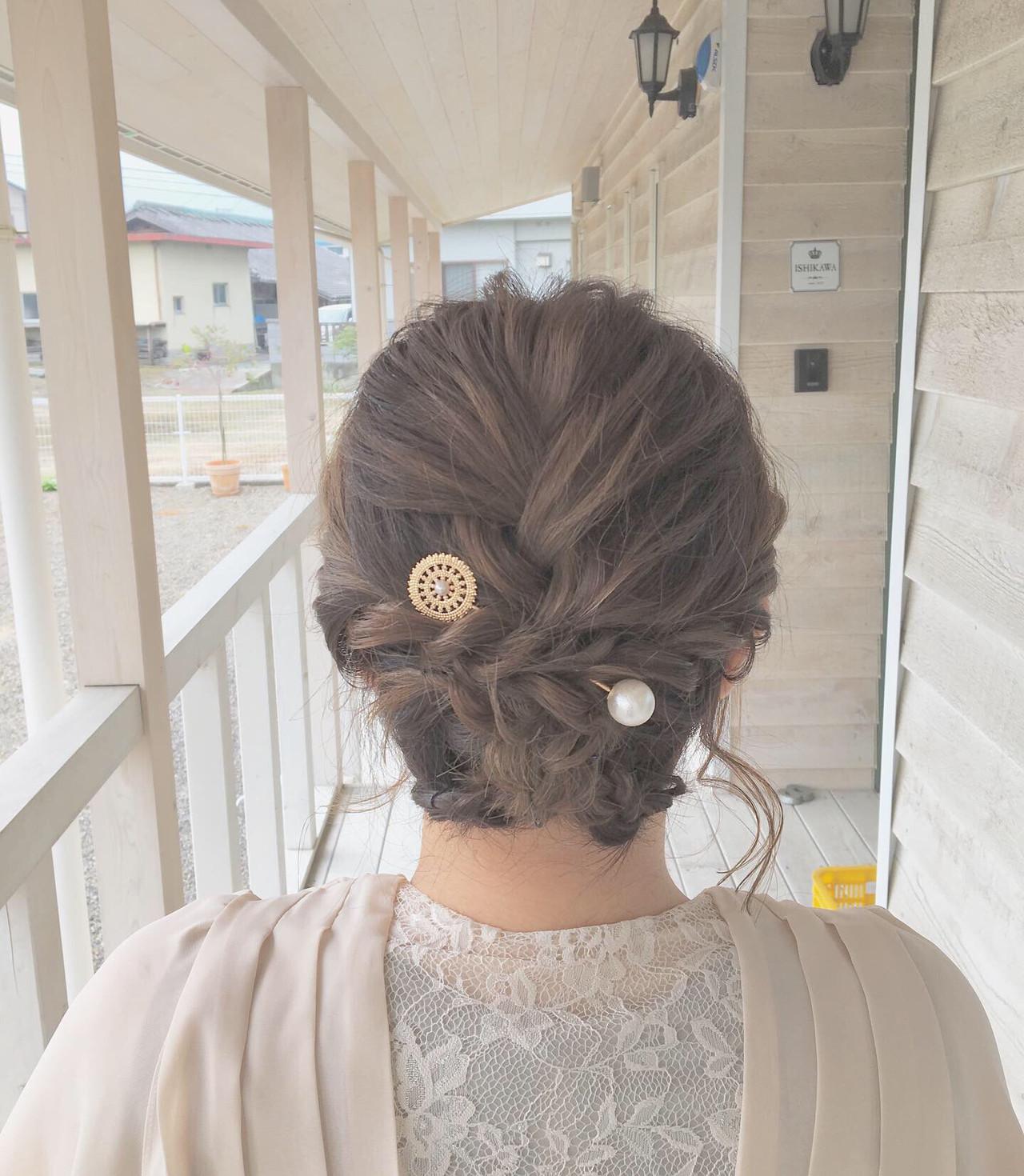 結婚式 成人式 ナチュラル ボブ ヘアスタイルや髪型の写真・画像   MOMOKO / HairworksZEAL