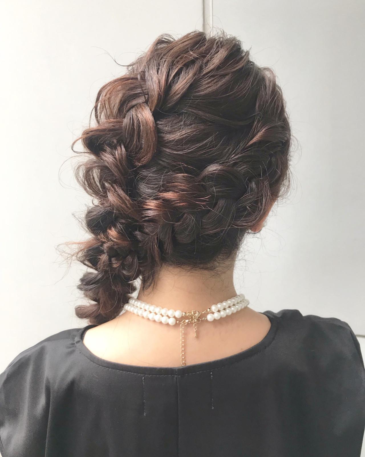 デート 簡単ヘアアレンジ ロング パーティ ヘアスタイルや髪型の写真・画像 | brisa 野田 沙織 / brisa ブリッサ