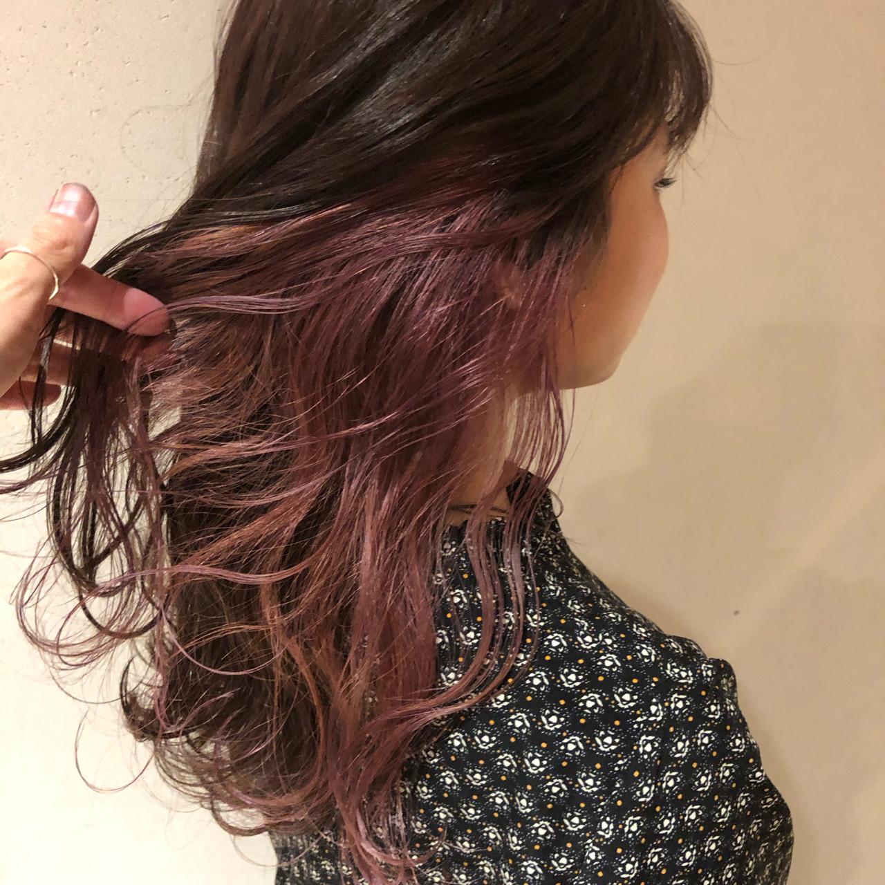 ラベンダーピンク ピンクラベンダー ラベンダーアッシュ エレガントヘアスタイルや髪型の写真・画像