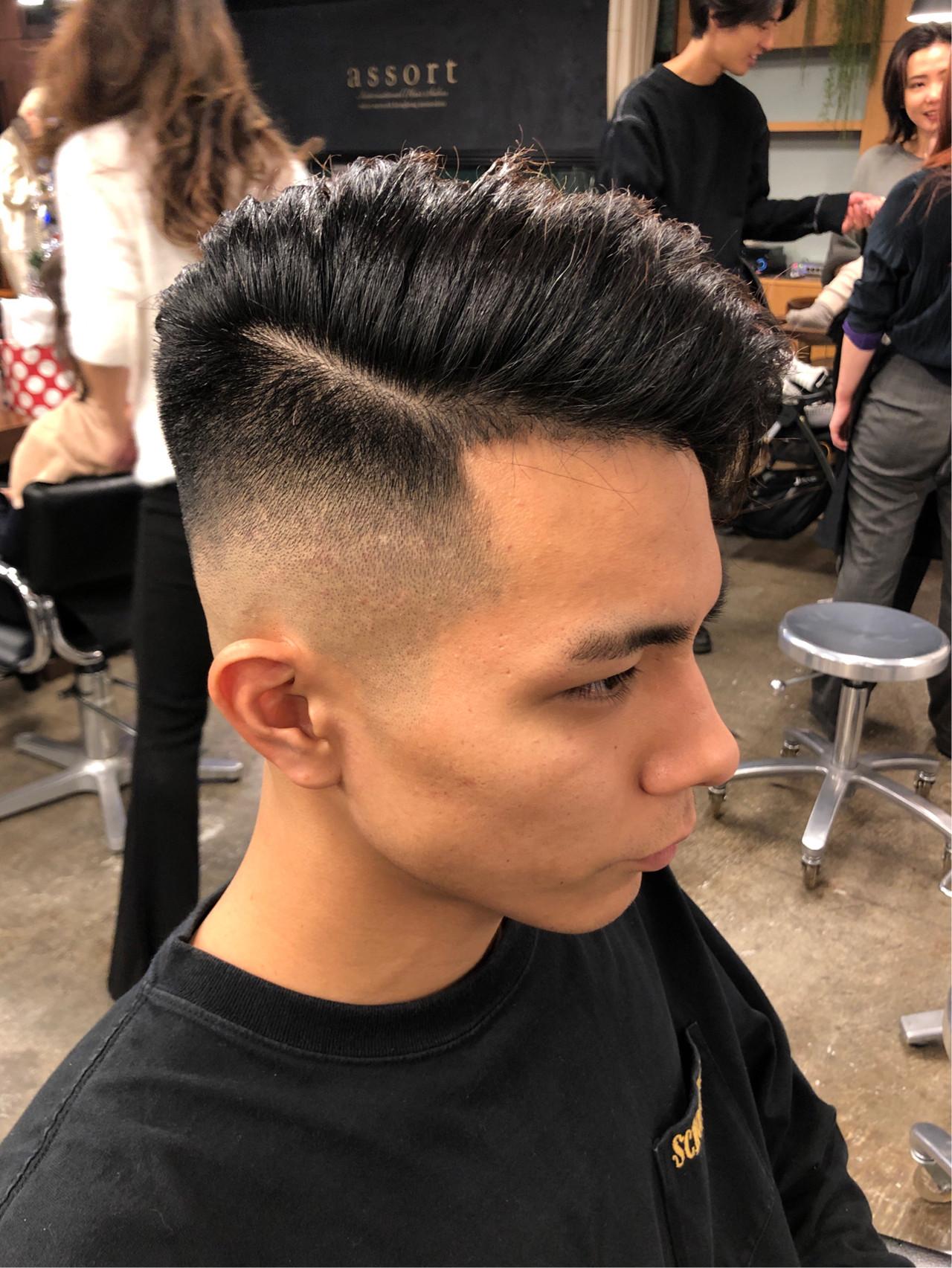 フェード カット 短髪