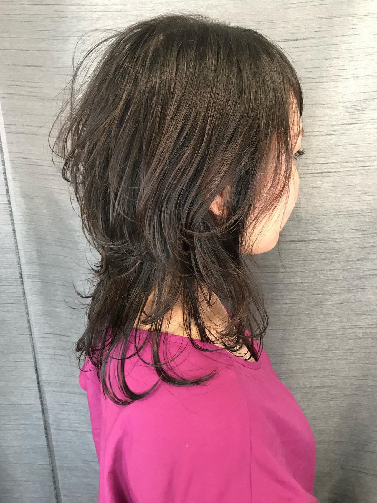 ウルフカット 大人可愛い 無造作ヘア ブランジュヘアスタイルや髪型の写真・画像