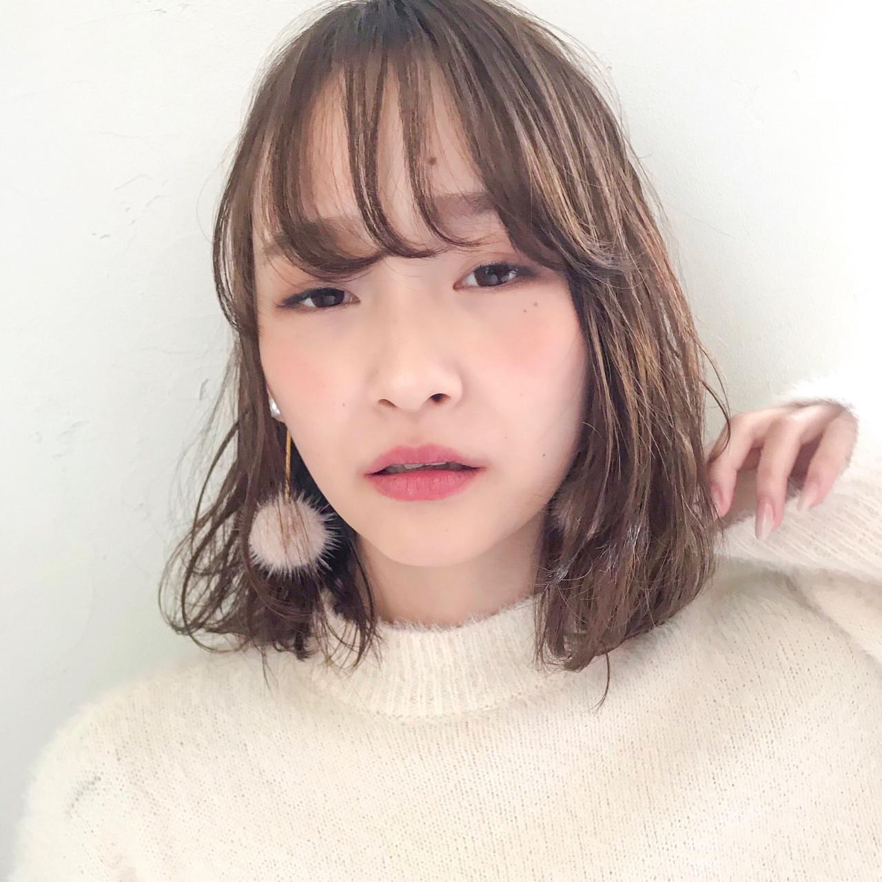 デート フェミニン 前髪あり ゆるふわ ヘアスタイルや髪型の写真・画像 | 信澤貴一【愛され大人可愛いヘア美容師】 / un ami kichijoji