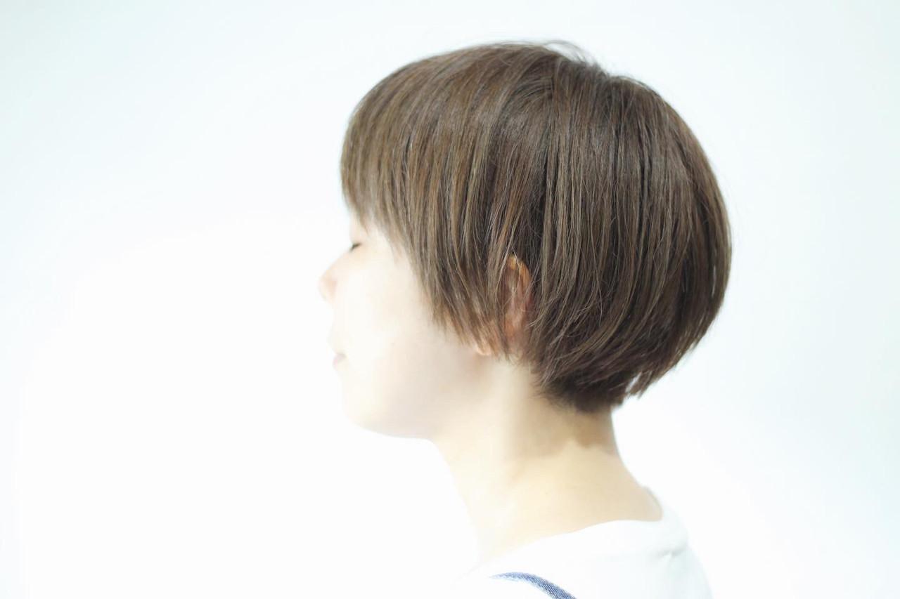 マット カーキ ボブ マットグレージュ ヘアスタイルや髪型の写真・画像 | creap / creap