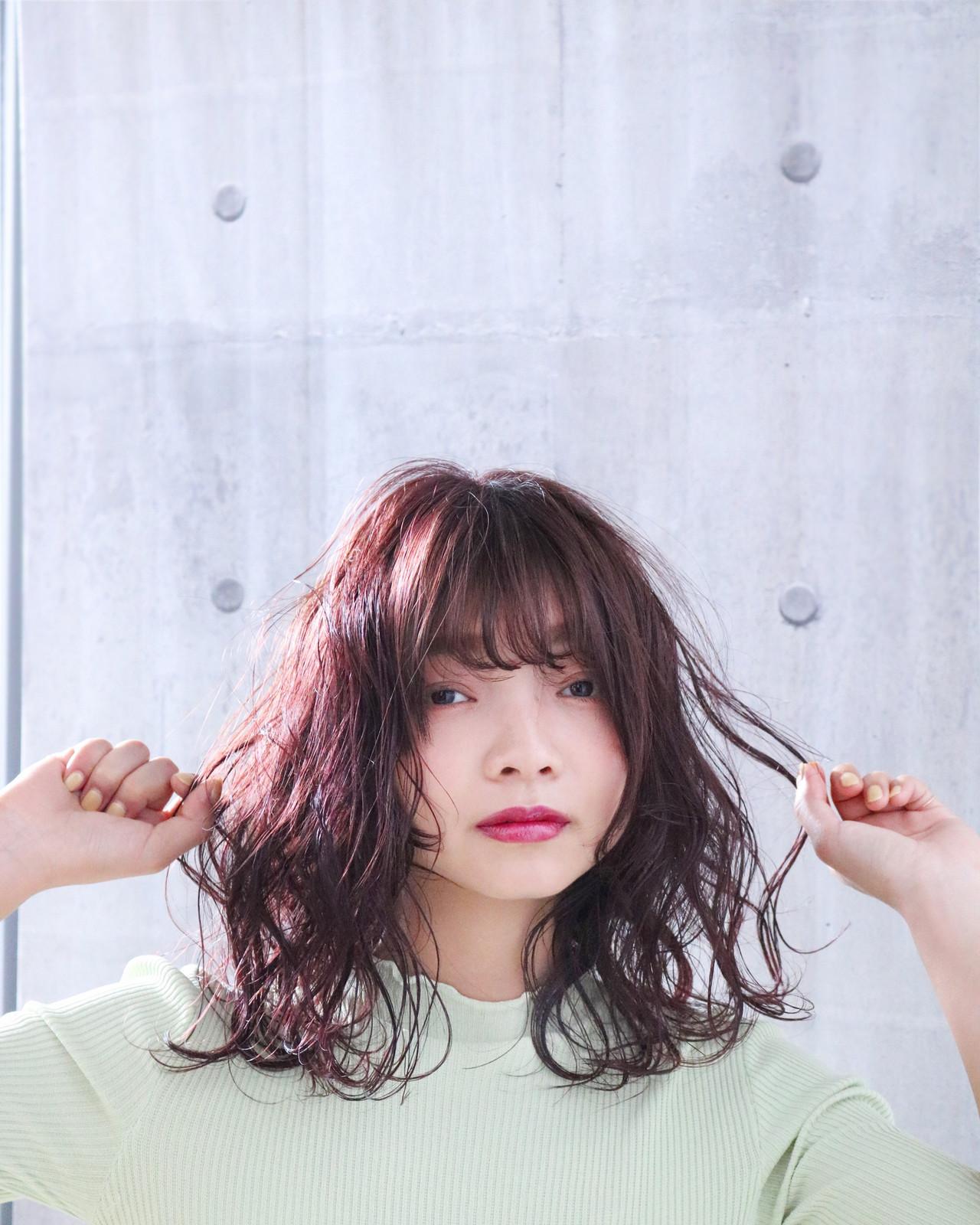 大人かわいい ピンクラベンダー ピンクパープル ピンクベージュ ヘアスタイルや髪型の写真・画像 | 上田智久 / ooit 福岡 天神 / ooit