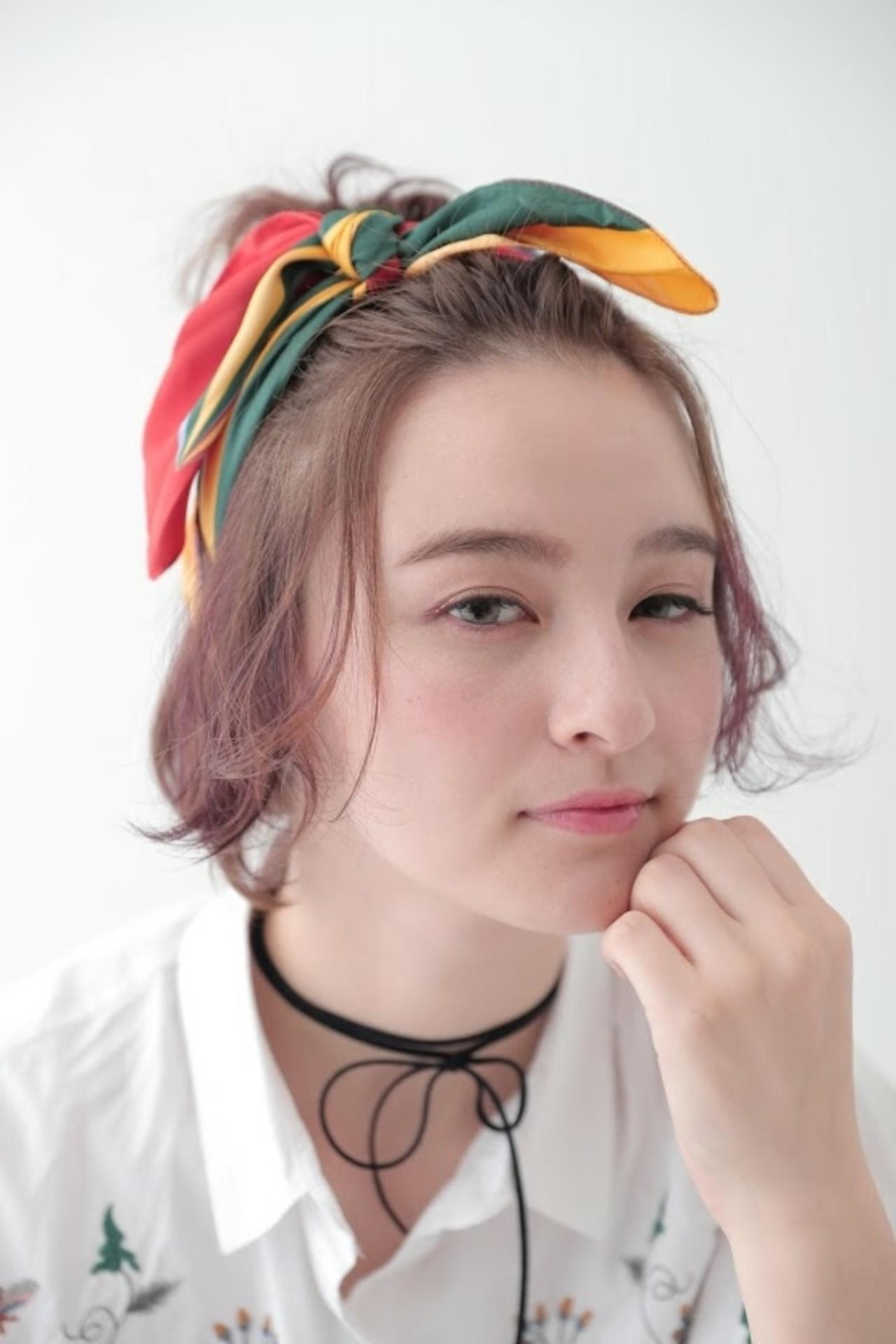 ヘアアレンジ 簡単ヘアアレンジ ボブ 透明感 ヘアスタイルや髪型の写真・画像