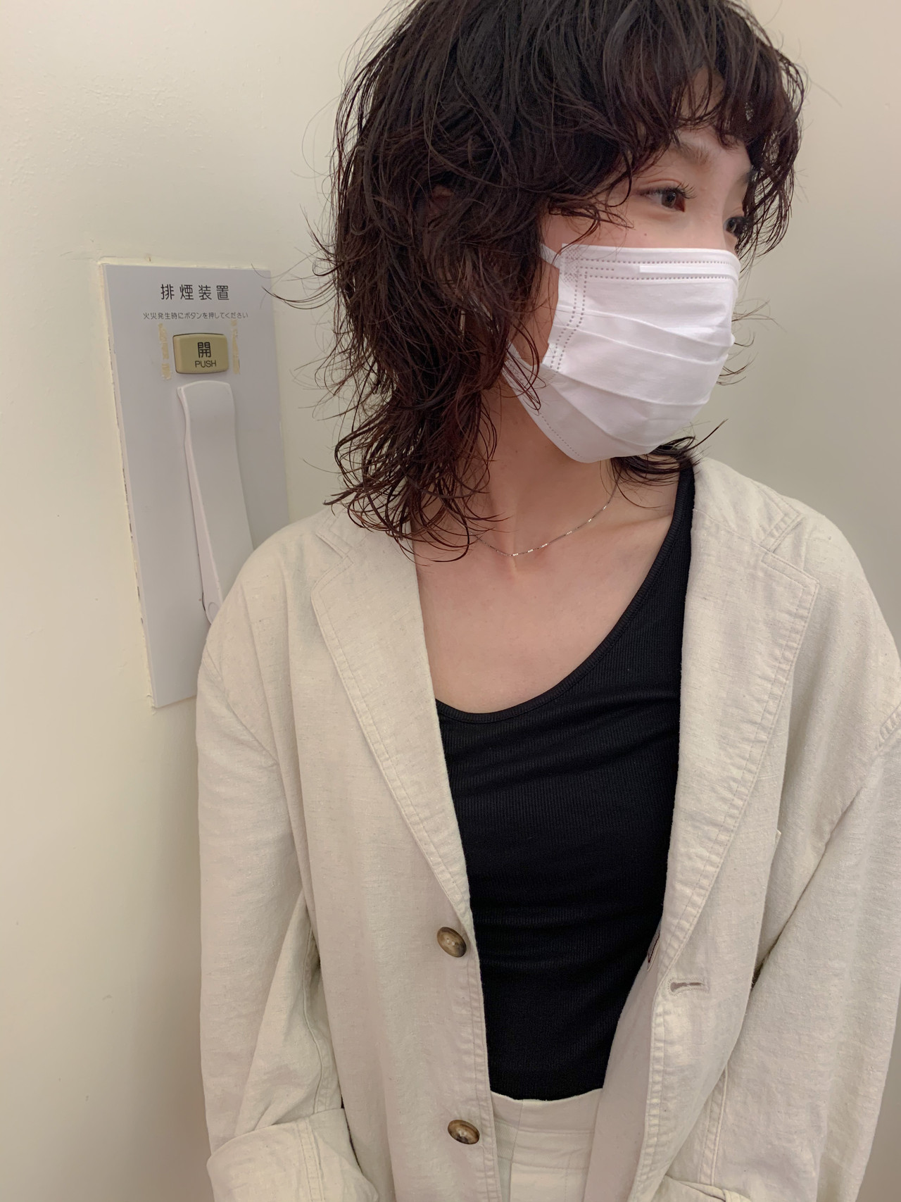 ナチュラル ゆるふわ ミディアム ウルフカット ヘアスタイルや髪型の写真・画像 | yumiko/sapporoSKNOW / SKNOW