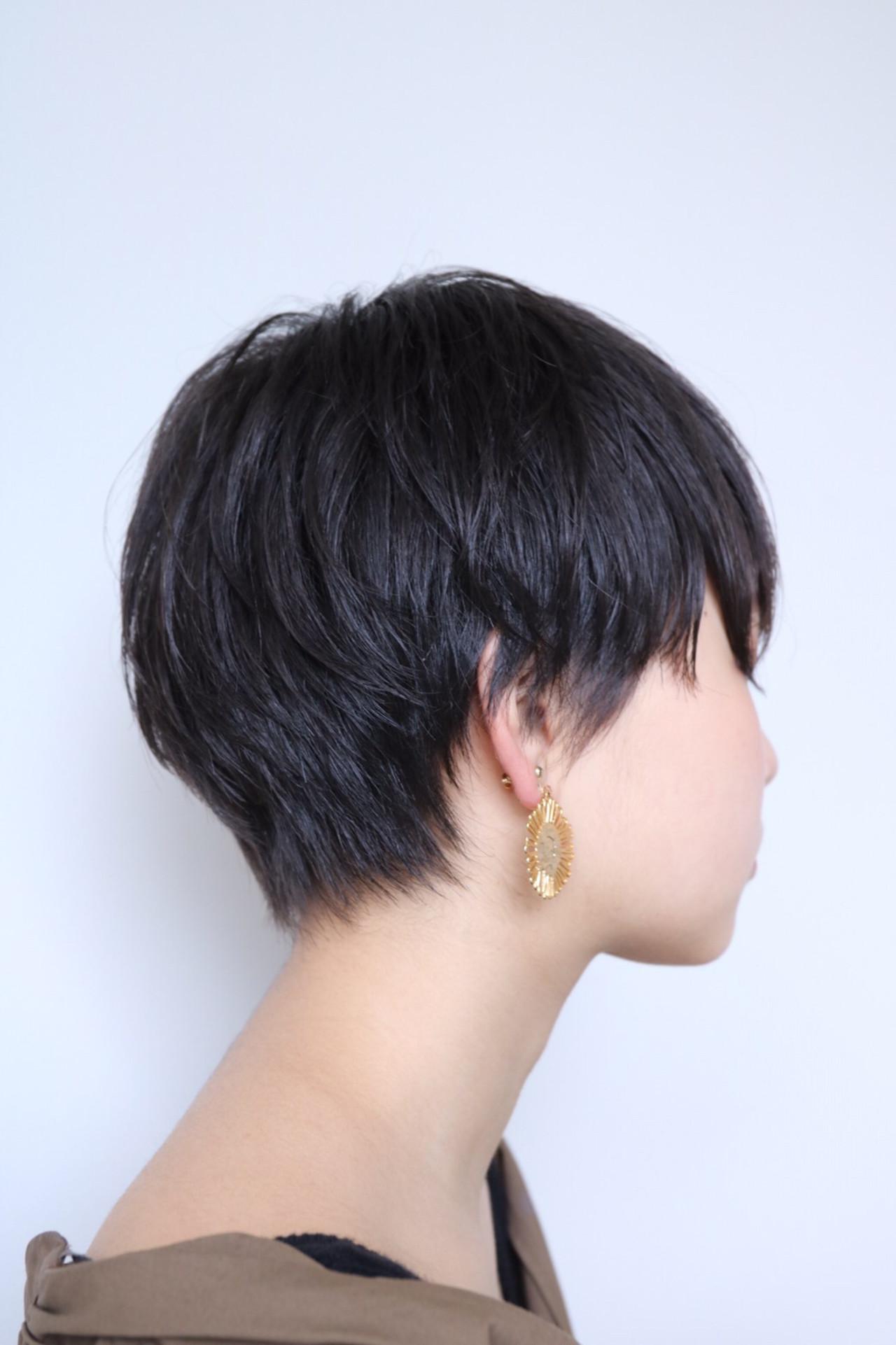 ベリーショート 小顔ショート 黒髪 マッシュショート ヘアスタイルや髪型の写真・画像 | 福田 拓郎 / Gluck (グルーク)
