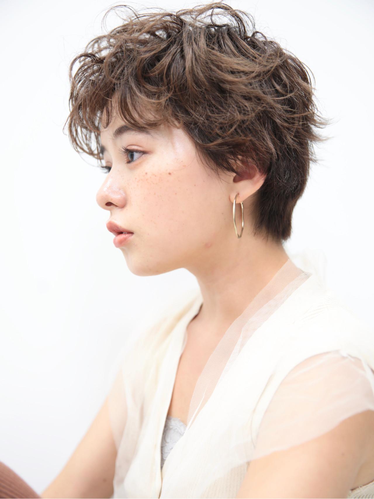 ショートボブ ミニボブ ベリーショート ガーリーヘアスタイルや髪型の写真・画像
