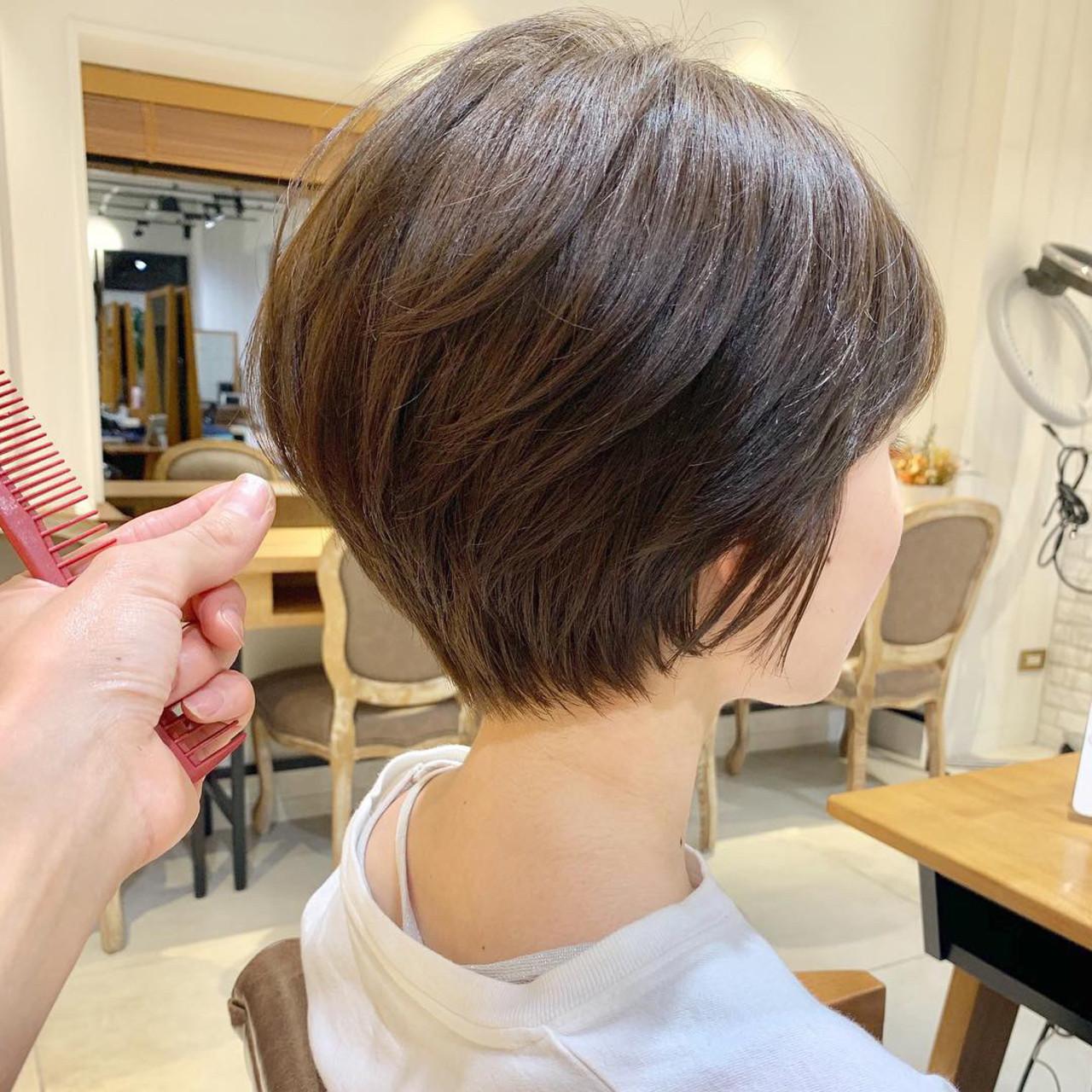 ヘアアレンジ ショート オフィス デート ヘアスタイルや髪型の写真・画像 | ショートボブの匠【 山内大成 】『i.hair』 / 『 i. 』 omotesando