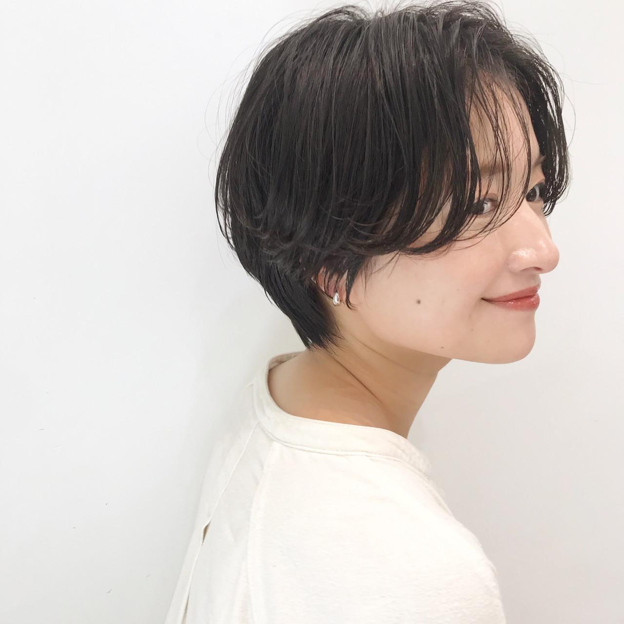 デート ショート ヘアアレンジ オフィス ヘアスタイルや髪型の写真・画像 | 大人可愛い【ショート・ボブが得意】つばさ / VIE