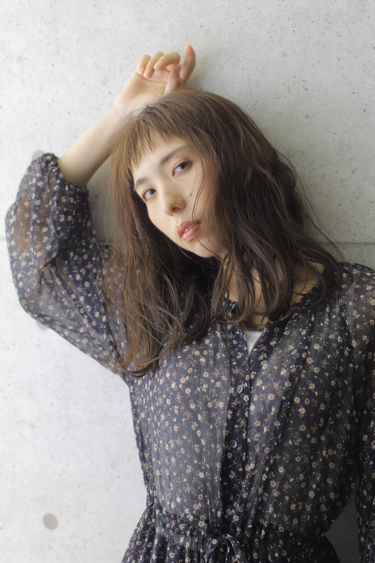 大人かわいい ブラウン ナチュラル ミディアム ヘアスタイルや髪型の写真・画像 | 山内雅淳 STARBERRY / Starberry 逗子店