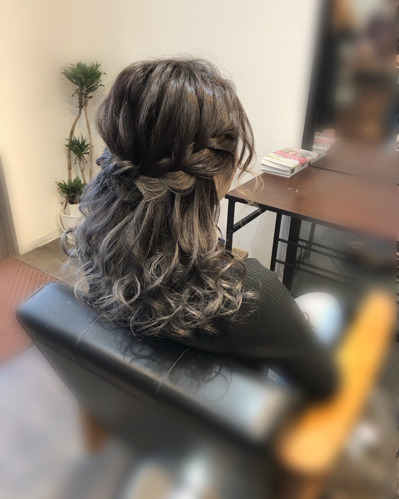 ヘアアレンジ ボブアレンジ 編み込み ミディアム ヘアスタイルや髪型の写真・画像 | mai / HAIR SALON STELLA