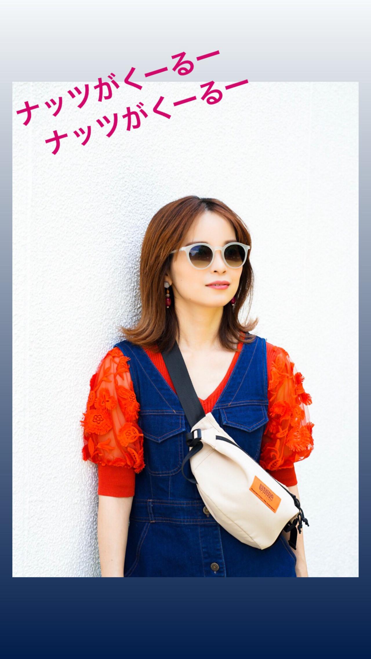 夏 オレンジ 切りっぱなしボブ ストリート ヘアスタイルや髪型の写真・画像 | 中田慎吾 / ZELE AVEDA 大宮