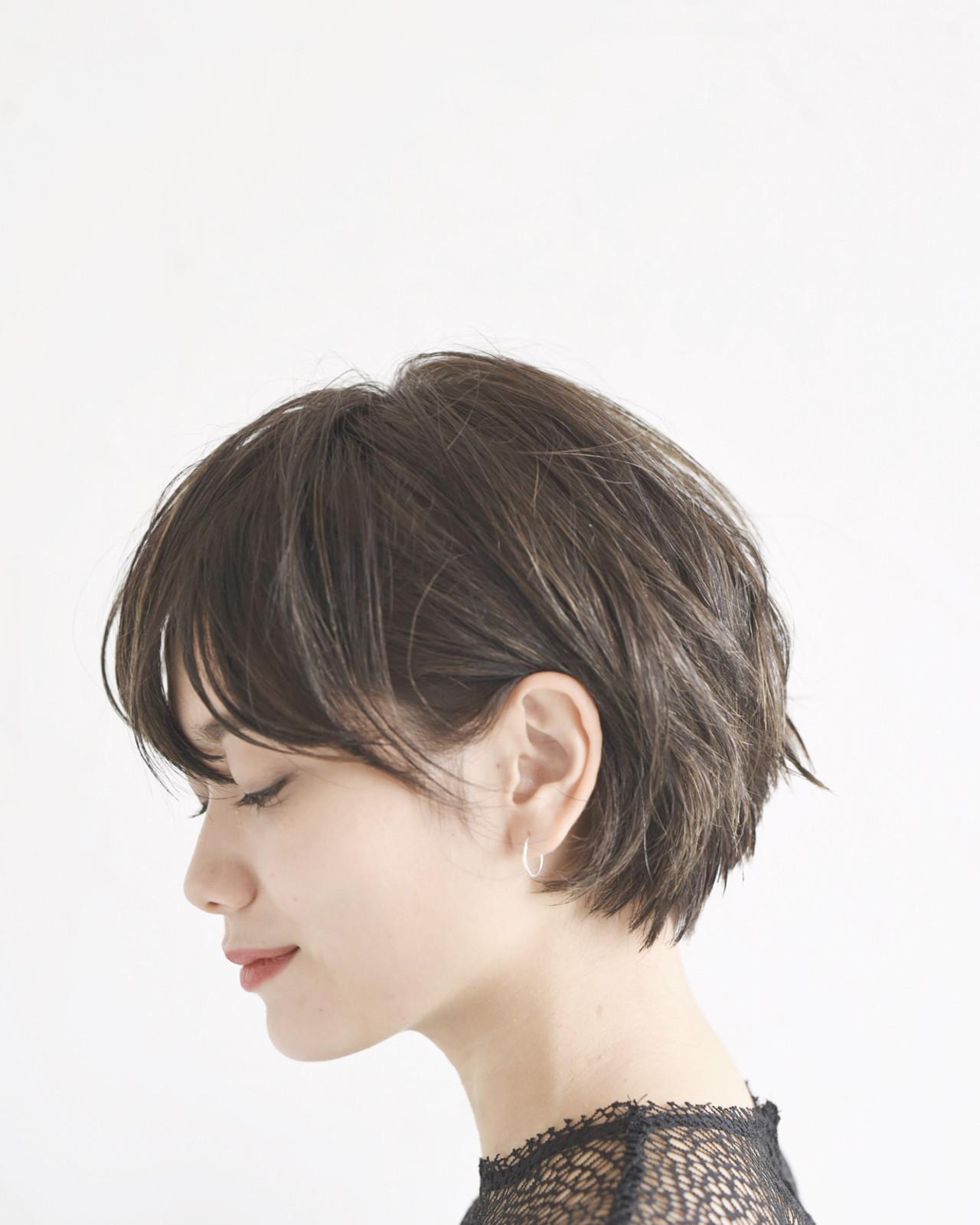 ショート 黒髪 アウトドア モード ヘアスタイルや髪型の写真・画像   ショートヘア美容師 #ナカイヒロキ / 『send by HAIR』